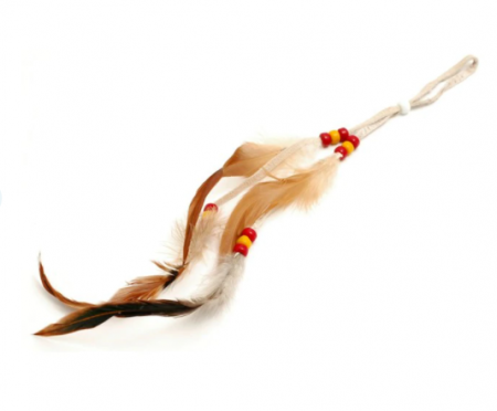 Long White Decorative Feather Adornment By Sheryl Kee - Navajo Tribe