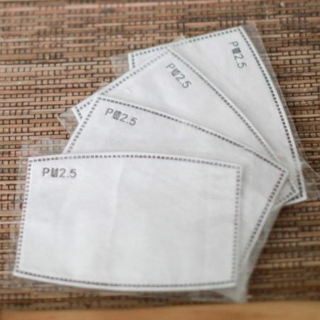 4x PM2.5 Face Mask Filter Insert Adults & Children Sizes