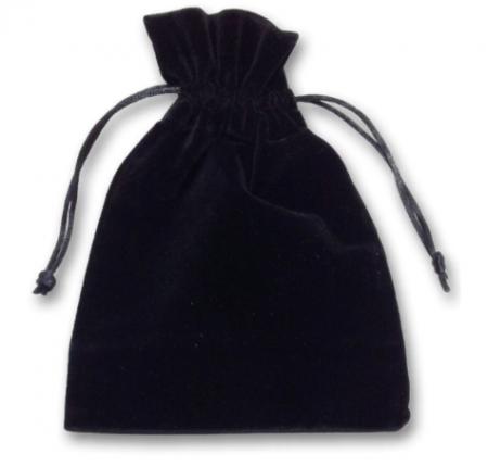 Luxury Drawstring Black Tarot Bag