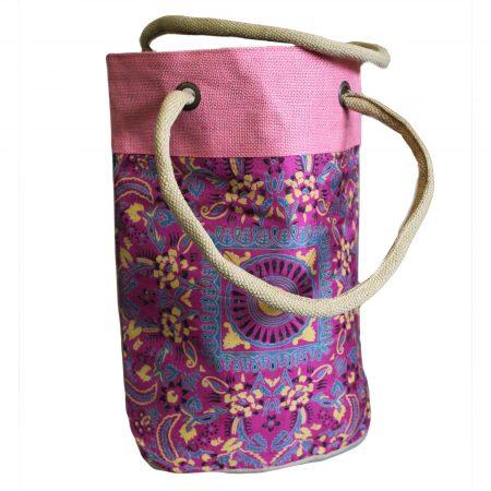 Barrel Shopping Bag Pink Alpana (asst designs)