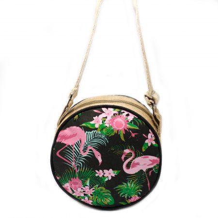 Flamingos Eco Round Bag