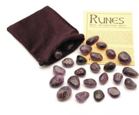 Crystal Rune Stones - Amethyst